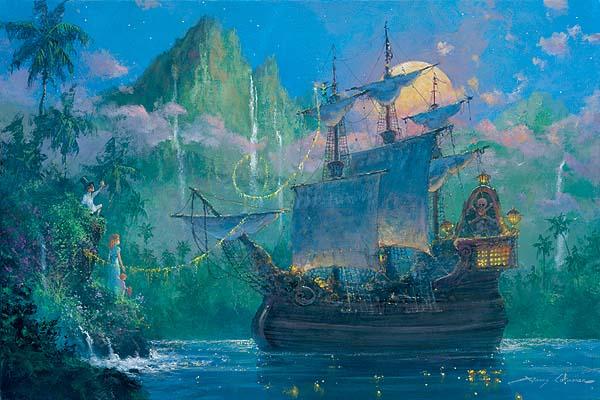 James Coleman Disney Art Pan On Board Hand Embellished