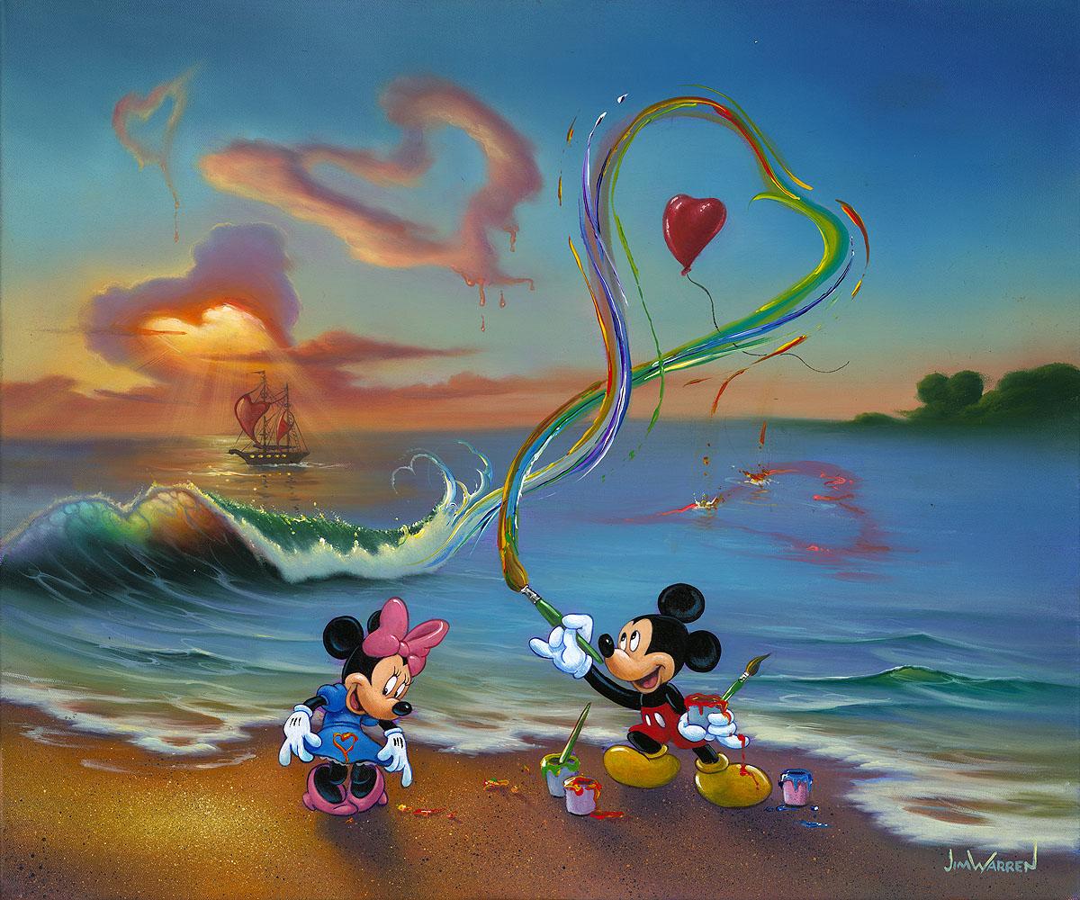 Art Disney: Jim Warren Fine Disney Art, Mickey The Hopeless Romantic