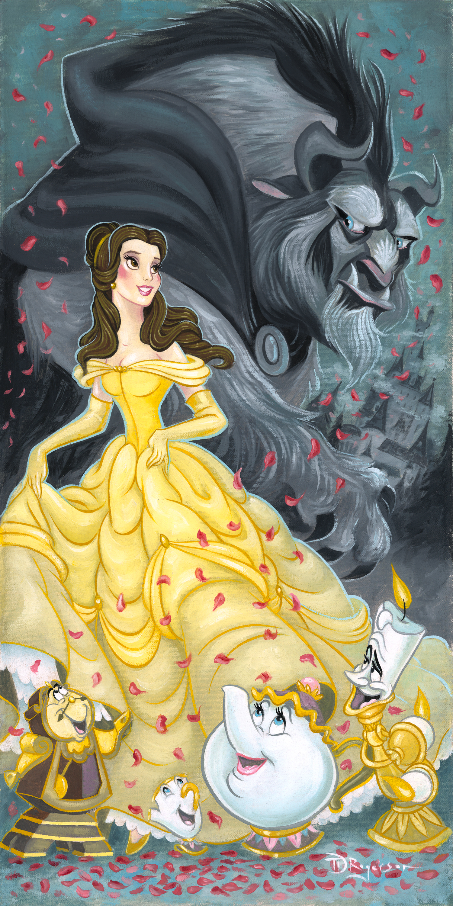 Belle and The Beast by Tim Rogerson, Disney Artist, Disney ...