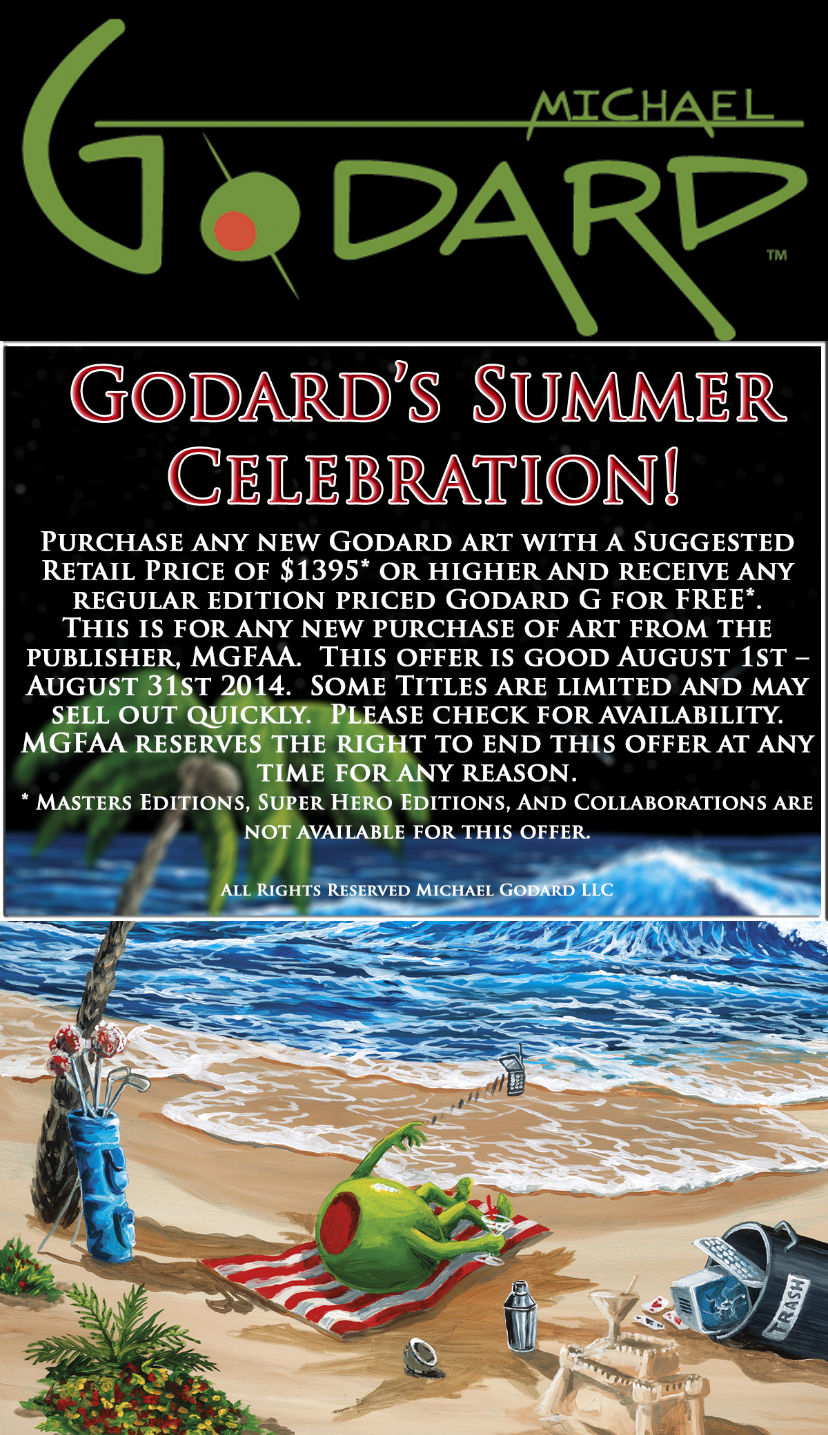 August Art Sale by Artist Michael Godard