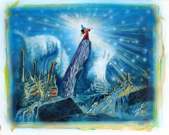 John Rowe Disney Art Sorcerers World